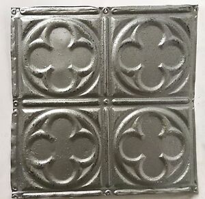 12 X 12 Antique Tin Ceiling Tile Silver 115a Metal