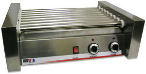 Commercial Benchmark Hot Dog Roller Grill Cooker 20 Hotdogs Hot Dog Stand