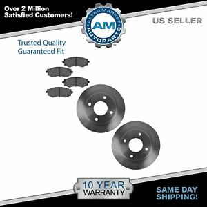 Nakamoto Front Ceramic Brake Pads Rotors Kit Set For Nissan Sentra G20 240sx