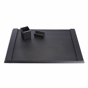 Royce Leather Desk Organizer Blotter And Business Card Holder Genuine Suede