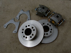 Bolt on 9 Ford 11 Rear Disc Brake Kit 9 Inch Small Ford Sbf Housing Ends