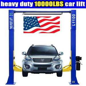 A 10 000lbs Car Lift L1100 2 Post Lift Car Auto Truck Hoist Free Shipping 220v