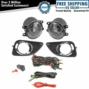 Add On Upgrade Clear Lens Fog Light Bulb Switch Wiring Kit Set For Camry New
