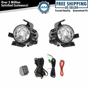 Add On Upgrade Clear Lens Fog Light Bulb Switch Wiring Kit Set For Quest Altima