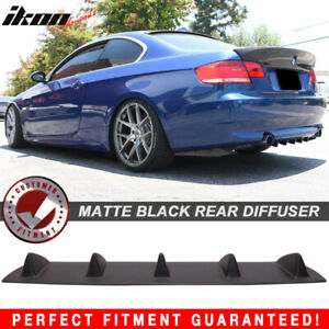 Fits 06 13 3 Series E90 E91 E92 E93 Rear Bumper Lip Diffuser 5 Fin Matte Black