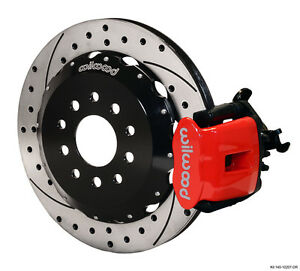 Wilwood Civic integra Disc 2 39 Hub Off Cpb Rear 12 19 Drilled Red 140 10207 dr