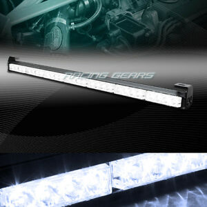 31 5 White Led Traffic Advisor Emergency Warn Flash Strobe Light Bar Universal