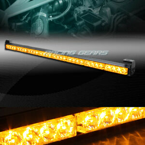35 5 Amber Led Traffic Advisor Emergency Warn Flash Strobe Light Bar Universal 7