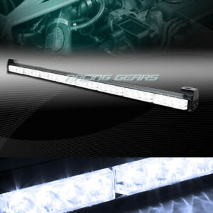 35 5 White Led Traffic Advisor Emergency Warn Flash Strobe Light Bar Universal