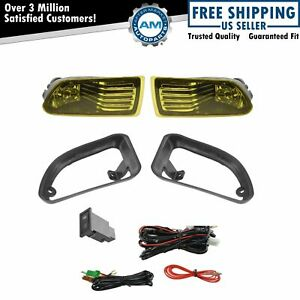 Add On Upgrade Yellow Lens Fog Light Bulb Switch Wiring Kit Set For Scion Tc New