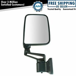 Manual Side View Mirror Folding Passenger Right Rh New For 87 02 Jeep Wrangler