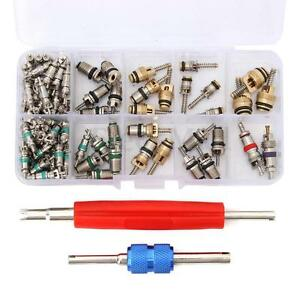 102pcs R12 R134a A C Valve Core Valves Auto Air Conditioning Remover Tool Kit