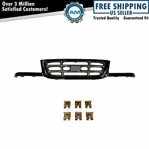 Grille Grill Chrome Bars Black Surround Trim For 01 03 Ford Ranger