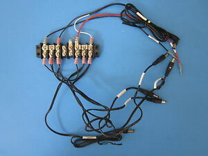Wiring Assy With Kulka 601 8 Position Dual Row Terminal Block strip Lot Of 4