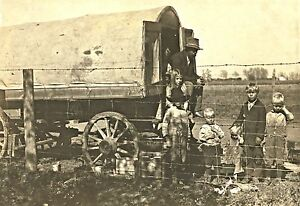 1915 Colorado Family Covered Wagon Children 16 X11 Photo Western Life Farm