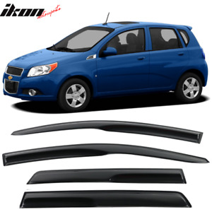 Fits 07 11 Chevy Aveo Sedan Hatchback Mugen Style Acrylic Window Visors 4pc Set