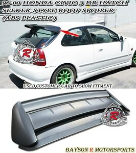 Sk style Rear Roof Spoiler Wing abs Plastic Fits 96 00 Honda Civic 3dr