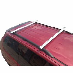 White Factory Roof Rail Clamp on Ladder Van Rack 50 Bar With Endcaps