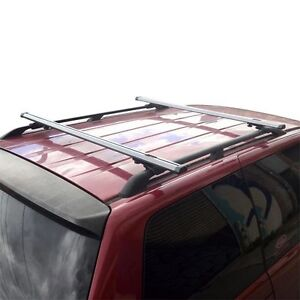 Silver Factory Roof Rail Clamp On Ladder Van Rack 50 Bar With Endcaps