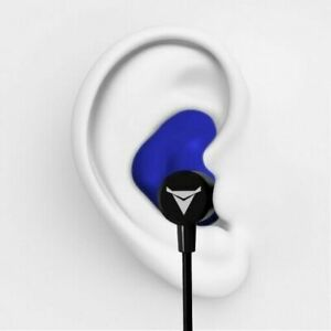 Decibullz Wl2 blu Custom Molded Fit Wireless Bluetooth Earphones In Blue
