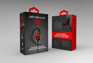 Decibullz Wl2 red Custom Molded Fit Wireless Bluetooth Earphones In Red