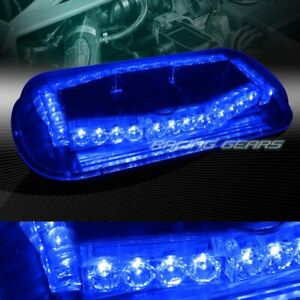 32 Led Blue Truck Emergency Roof Top Hazard Warn Flash Strobe Light Universal 6