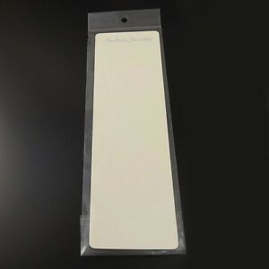 26 5 7cm Paper Beige Jewelry Case Necklace Display Hanging Card With Bag 60pcs