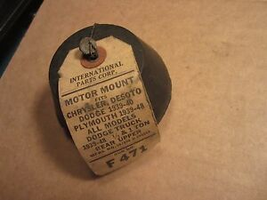 1939 40 41 42 46 47 48 Chrysler Desoto Dodge Plymouth 6 Motor Mount Nors