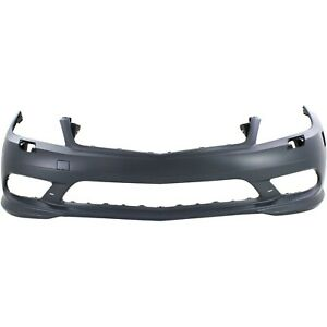 Bumper Cover For 2008 2011 Mercedes Benz C300 With Headlight Washer Holes Front