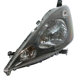 Headlight For 2009 2013 Honda Fit Driver Side W Bulb