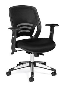 Lot Of 8 Black Otg 11686b mesh Back Managers Chair