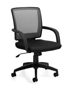 Lot Of 8 Black Otg 10900b mesh Back Managers Chair