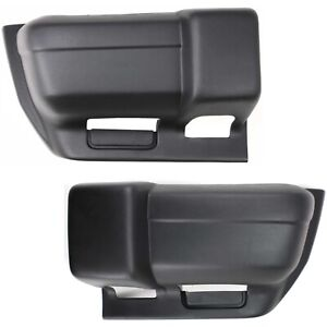 Bumper End Caps For 1997 2001 Jeep Cherokee Set Of 2 Front Textured