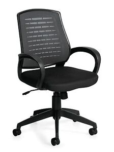 Lot Of 6 Black Otg 10902b mesh Back Managers Chair