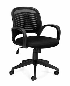 Lot Of 6 Black Otg10901b mesh Back Managers Chairs