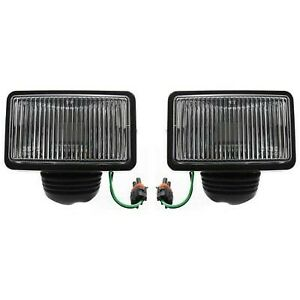 Set Of 2 Clear Lens Fog Light For 87 95 Jeep Wrangler Yj Lh Rh W Bulbs