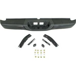 Step Bumper For 00 06 Toyota Tundra Black Steel W Brackets pads Fleet Styleside