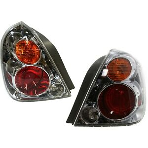Set Of 2 Tail Light For 2002 2004 Nissan Altima Lh Rh W Bulb s