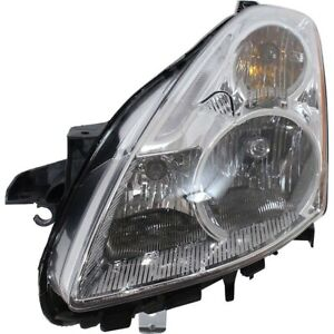 Headlight For 2010 2012 Nissan Altima Left Halogen With Bulb