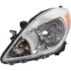 Headlight For 2012 2014 Nissan Versa Driver Side W Bulb