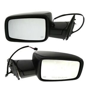Power Mirror Set Of 2 For 2011 2012 Ram 1500 Black Manual Folding Heated