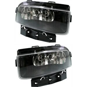 Set Of 2 Clear Lens Fog Light For 2005 13 Chevy Corvette Lh Rh Capa W Bulbs