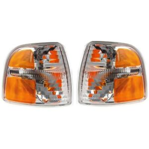 Side Marker Corner Parking Lights Turn Signals Pair Set New For 02 05 Explorer