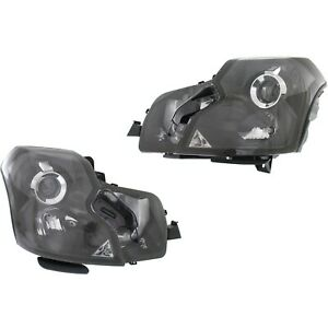 Headlight Set For 2003 2007 Cadillac Cts Left And Right Hid With Bulb 2pc