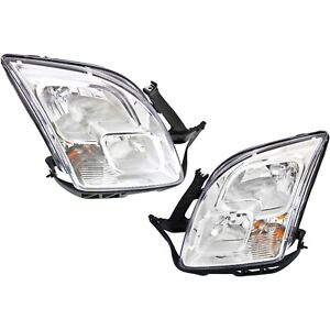 Headlight Set For 2006 2009 Ford Fusion Left And Right Halogen With Bulb 2pc