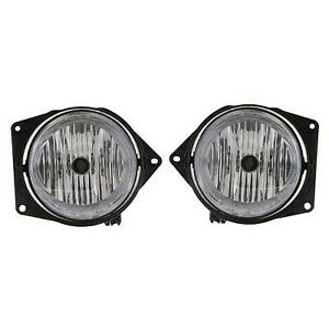 Set Of 2 Clear Lens Fog Light For 2006 10 Hummer H3 Lh Rh Capa W Bulbs