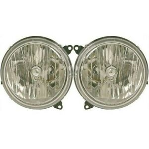 Headlight Set For 2005 2006 2007 Jeep Liberty Left And Right With Bulb 2pc