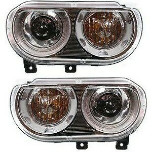 Headlight Set For 2008 2014 Dodge Challenger Left And Right Hid 2pc