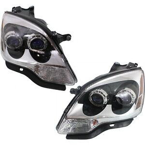 2007 12 Replacement Halogen Projector Headlight Pair For Gmc Acadia W Bulb