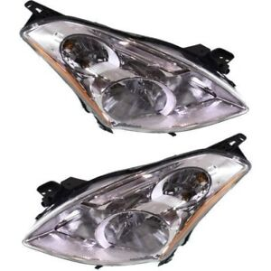 Headlight Set For 2010 2012 Nissan Altima Sedan Driver Passenger Side W Bulb